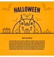 Happy halloween concept orange background with vector image