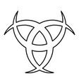 horn odin triple horn of odin icon black color vector image vector image