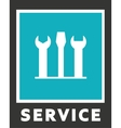 icons of service Screwdriver and spanner vector image