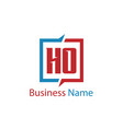 initial letter ho logo template design vector image