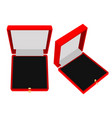 jewelry gift box red case vector image vector image