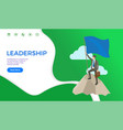 leadership web page businessman on top mountain vector image