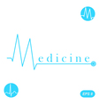 M letter medicine concept template vector image vector image