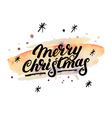 merry christmas hand written lettering 2017 vector image vector image