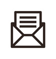 Message icon vector image vector image