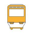 modern metro train vector image vector image