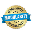 modularity round isolated gold badge vector image vector image