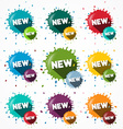 New Icons Set - Blots - Splashes Symbols vector image vector image