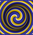 optical sphere with a spiral pattern