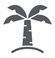 palm tree glyph icon nature and plant tropical vector image