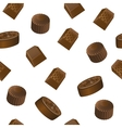 Realistic chololate candy pattern vector image