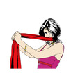 red scarf vector image