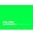 retro tv volume control bar white glitch effect vector image vector image