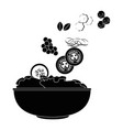 salad bowl gourmet vector image vector image