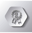Seal stamp icon Winner design over hexagon vector image