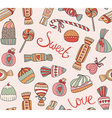 seamless pattern with sweets and cakes vector image