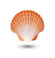 seashell sea shell in seashell logo vector image