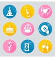 set 9 birthday web and mobile icons in vector image vector image