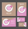set of corporate branding cake and flower vector image vector image