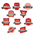 set of ten black friday sale badges vector image vector image