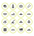 Set round icons of sushi vector image