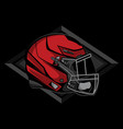simple helmet american football logo vector image