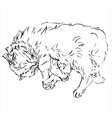 sketches of cats in different posesdoodles vector image vector image