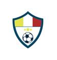 soccer fever concave shield footbal club emblem vector image vector image