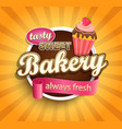 sweet bakery label vector image vector image