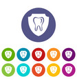 tooth protection icon simple style vector image vector image