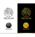 Tree Logo Concept Monogram vector image
