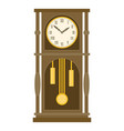 vintage grandfather pendulum clock vector image vector image