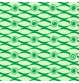 Wave green seamless pattern vector image