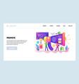 web site design template digital marketing vector image vector image