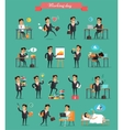 Working Day in Office Characters Set vector image vector image