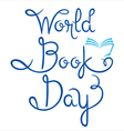 World Book Day Lettering vector image