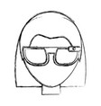smart glasses technology vector image