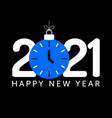 2021 happy new year new year with blue vector image