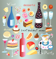 A set of food and drink vector image vector image