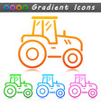 agriculture tractor symbol icon vector image