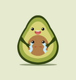 avocado love vector image