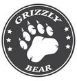 bear paw print circle logo design vector image vector image