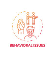 behavioral issues concept icon