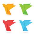 bird origami colored vector image