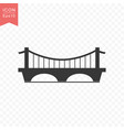 bridge building icon simple flat style vector image vector image
