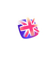 british flag icon flag great britain icon vector image