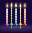 burned birthday party and xmas candles isolated vector image vector image