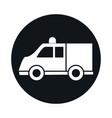car ambulance model transport vehicle block and vector image vector image