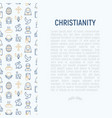 christianity concept with thin line icons vector image vector image