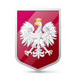 coat arms poland vector image